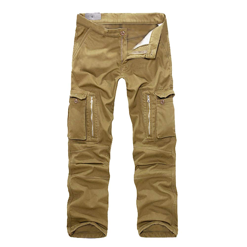 Casual Men's Cotton Multi-Pocket Outdoors Work Cargo Long Pants Hot Sale Trouser