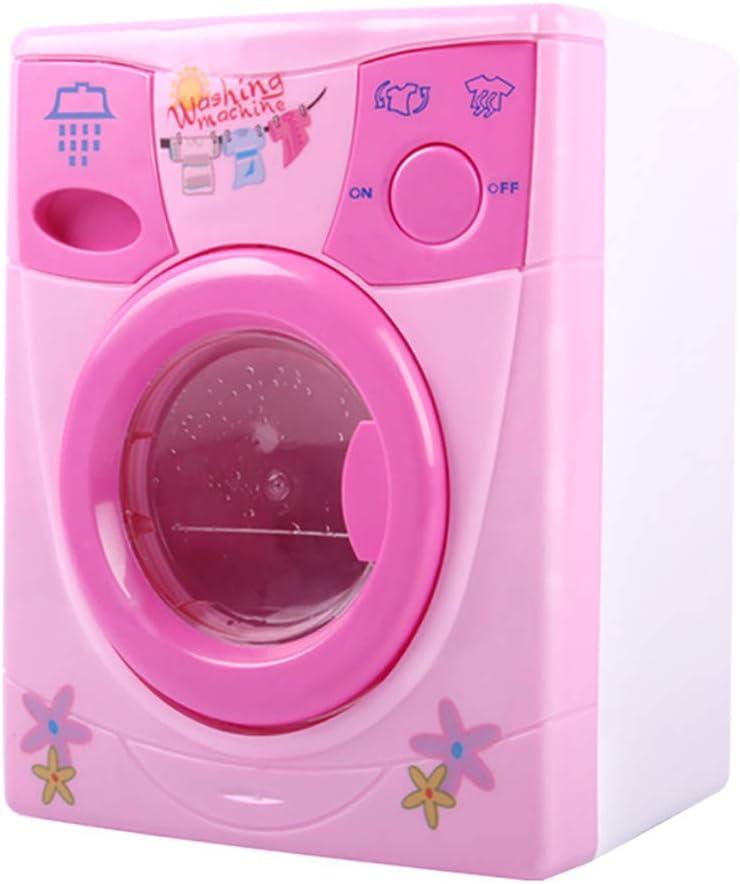 Mini Lavadora Eléctrica,CHshe❤❤,Mini Lavadora Eléctrica Casa de Muñecas,Juguete Lavado Muy Útil Pinceles de Maquillaje,regalos para hijas y amigos