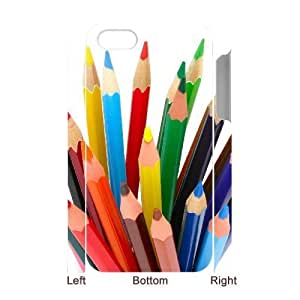 3D Bumper Plastic Case Of Art Pencil customized case For Iphone 4/4s