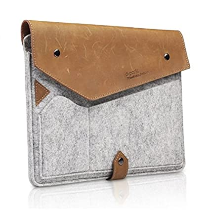 """Verizon Leather Sleeve Case Pouch Cover For 10/"""" Inch or Smaller Tablet iPad Bag"""
