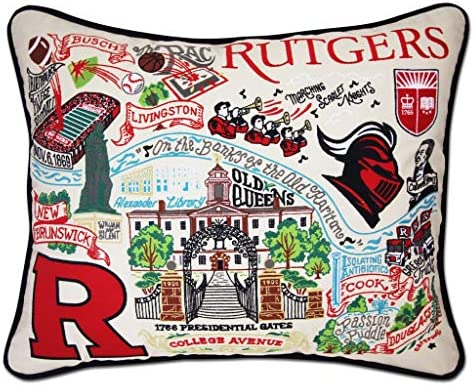 Catstudio Rutgers University Collegiate Embroidered Decorative Throw Pillow
