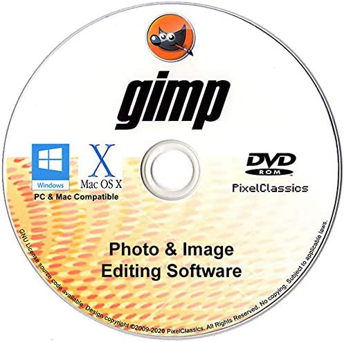GIMP Photo Editor 2020 Premium Professional Image Editing Software for PC Windows 10 8.1 8 7 Vista XP, Mac OS X & Linux – Full Program & No Monthly Subscription!