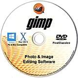 Photo Editing Software 2021 Compatible with Photoshop CS5 CS6 Premium Image GIMP Editor Disc CD DVD Software Compatible…