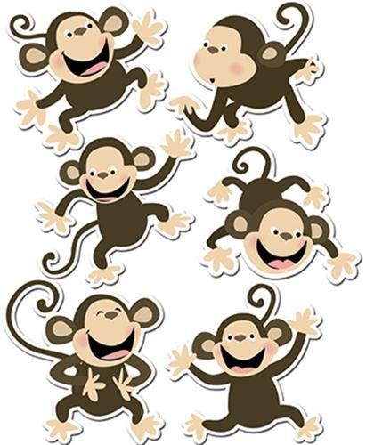 Monkeys 6in Designer Cut Outs