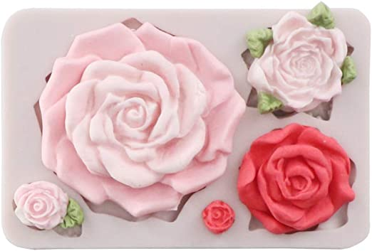 Big Rose  Silicone Push Mold Food Safe Cake Decoration Candy Cupcake FDA