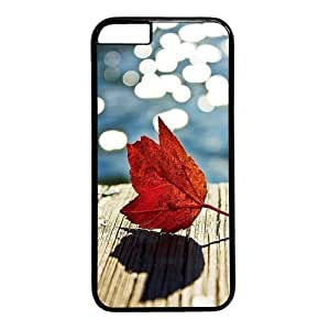 """Autumn Classy Leaf Theme Case for iPhone 6 Plus (5.5"""") PC Material Black by mcsharks"""