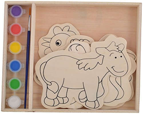 SRI Land Animal Painting Set By SRI – 5 Pieces