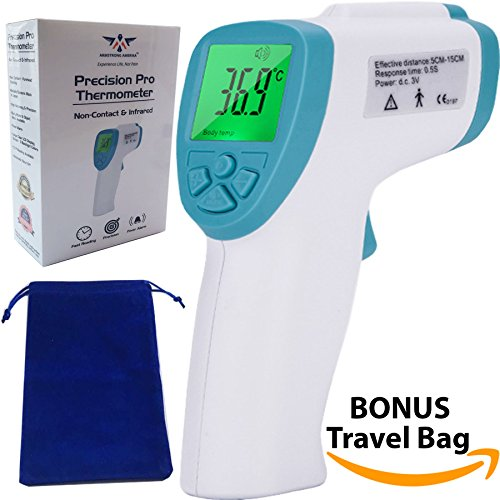 Baby Forehead Thermometer for Kids - Non-Contact Infrared Fast and Accurate Touchless Temporal Digital Temperature Check Temple Fever for Infants Children Plus Surface Temp (green)