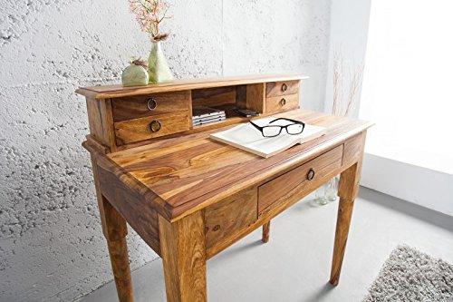 DuNord Design Sekretär Konsole KEY WEST 90cm Palisander Massivholz Sheesham natur Schreibtisch