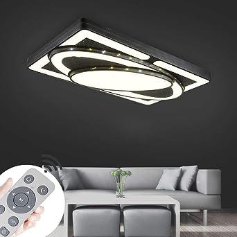 Miwooho 78w Design Led Deckenlampe Dimmbar Mit Fernbedienung Led Deckenleuchte Wohnzimmer Lampe Schlafzimmer Kuche Leuchte Energieklasse A Amazon De Beleuchtung