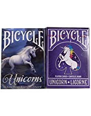 Bicycle Playing Cards Unicorns | Anne Stokes Unicorns | 2 Deck Bundle Collectors Edition Rare Decks by Bicycle