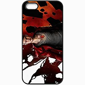 Personalized iPhone 5 5S Cell phone Case/Cover Skin Art Guy Pendant Different Eyes Abstraction Cloak Black