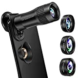Phone Camera Lens, VPKID 4 in 1 Phone Lens Kit 14X Zoom Telephoto