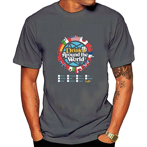 Sun-Tshirt Men's Drink Around The World-Epcot Checklist Tee Shirts (Best Way To See Epcot)