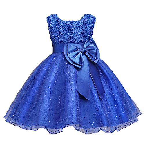 Kids Clothing Elegant Hand Beading Girls Dresses for Children Princess Party Costumes 3-10 -