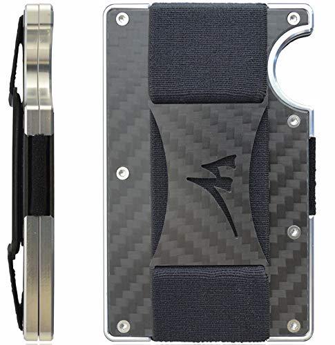 (Martrams Carbon Fiber Credit Card Holder RFID Blocking Money Clip Wallet)