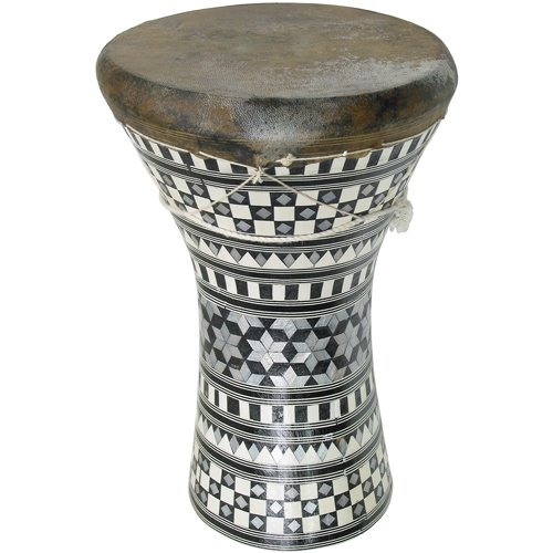 Medium Inlaid Wooden Dumbek by Lark in the Morning