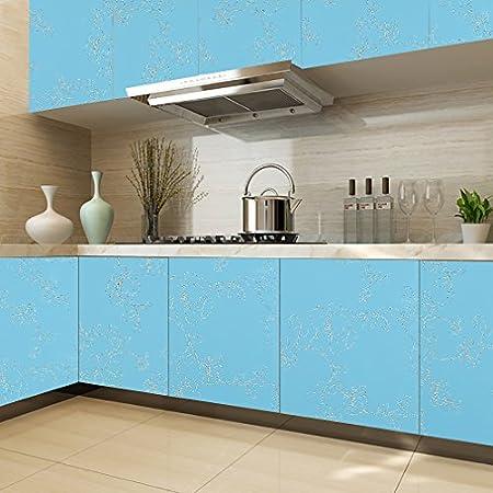 KINLO® Küchenschrank folie Blau Folie Küche 500x61cm TOP Qualität ...