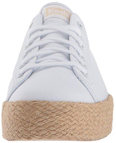 Keds Damen TPL Kick Jute White Sneaker Weiß (White)