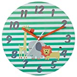Premier Housewares Safari Kids Wall Clock - Green