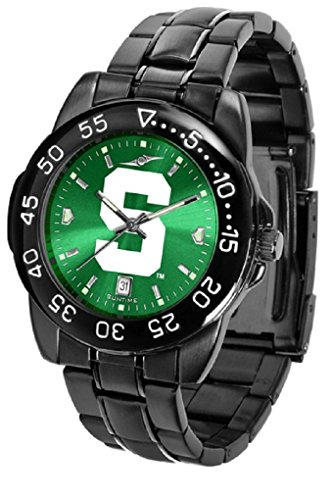 Collegiate Fantom Sport Anochrome Premium Mens Watch with gunmetal band (Michigan State)