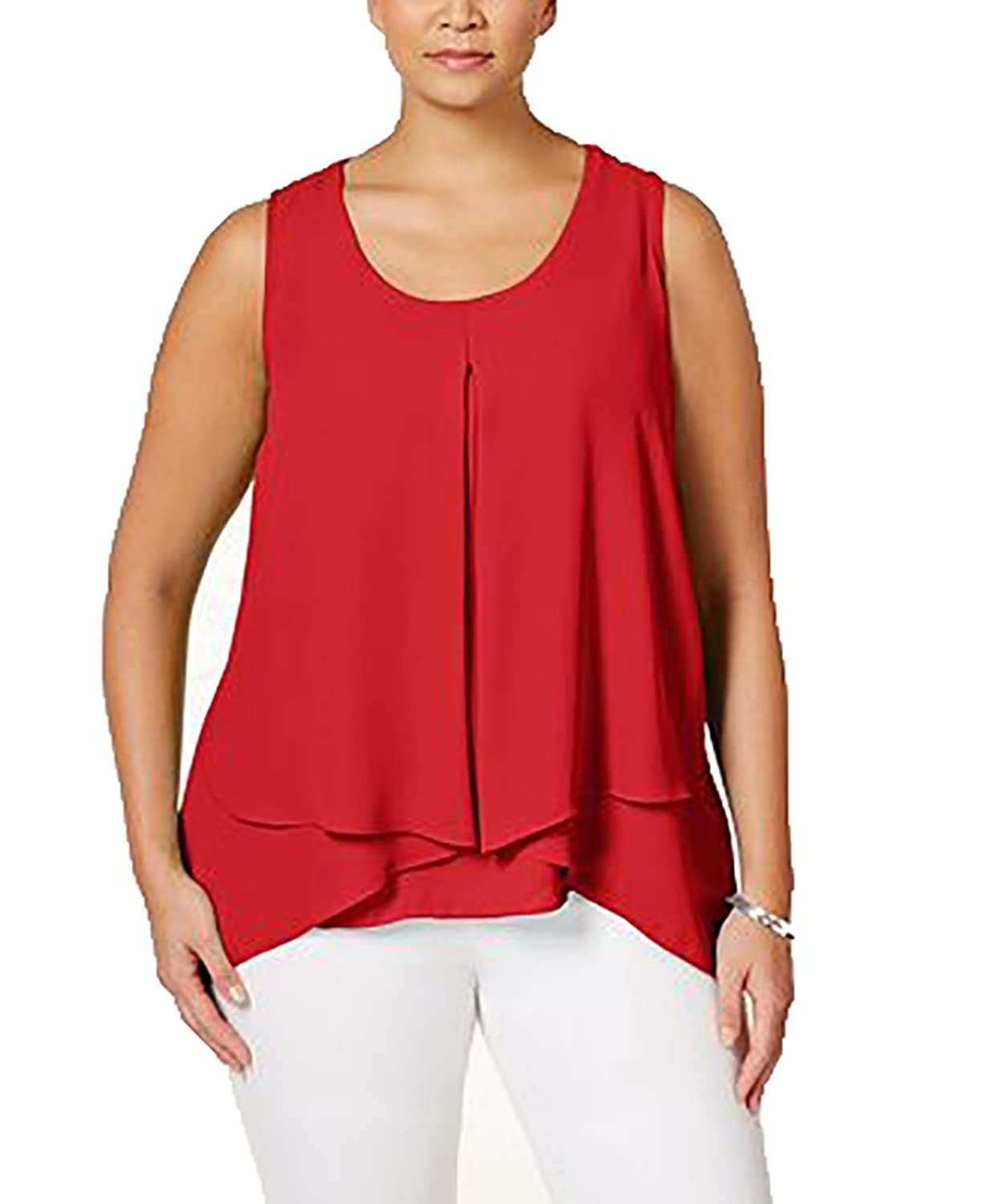 Ny Collection Plus Size Flyaway Tank Top