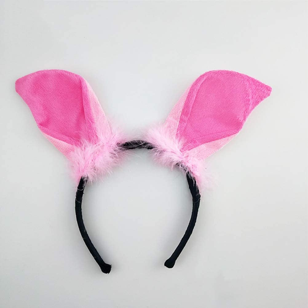 3pcs STOBOK Children Pig Costume Cartoon Animal Suit Ears Headband Bow Tie Tail Set Performance Props for Cosplay Party Pink Pig