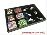 Black Velvet 12 Compartment Counter Display Case / Tray / Box /Organizer / Holder for Jewelry Retail Shop