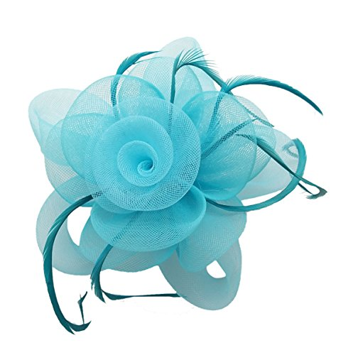 light blue feather clip - 9