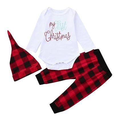 Disfraz Halloween Bebe Vestidos Bebe Niña Invierno Bebés Bebés Niños Niñas Navidad Xmas Carta Plaid Romper