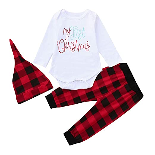Amazon.com: SUNBIBE👻Newborn Christmas Clothes, Baby Girls Boys ...