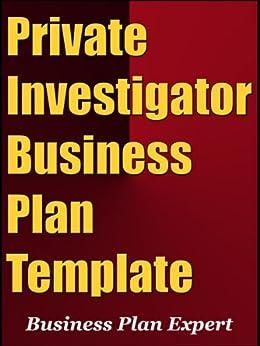 amazoncom private investigator business plan template