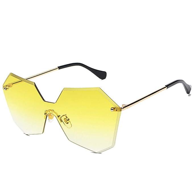 SenDi Gafas de sol - Nueva moda sin marco gafas irregulares ...