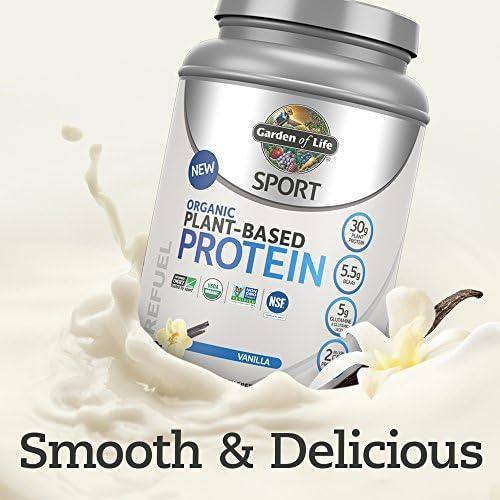Amazon.com: Garden Of Life Sport Organic Plant-Based Protein - BCAA Amino Acid Protein Powder, Vanilla, 12 Count: Health & Personal Care