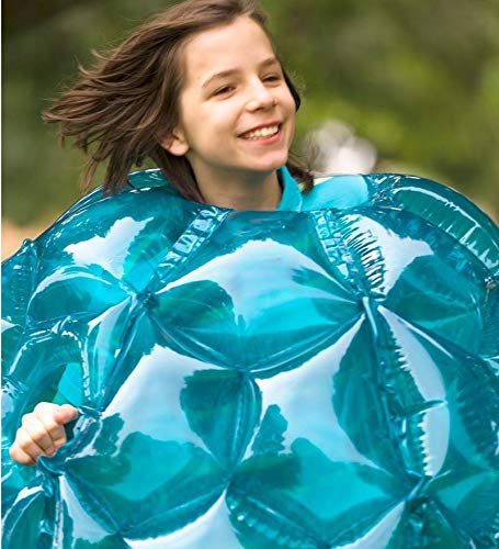 Set of 2 Blue BBOP Buddy Bumper Ball Inflatable Blow Up Giant Wearable Body Bubble Zorb Soccer Suit Heavy Duty Durable PVC Vinyl Kids Adults Physical Outdoor Active Play 36'' Inches Diam by HearthSong (Image #4)