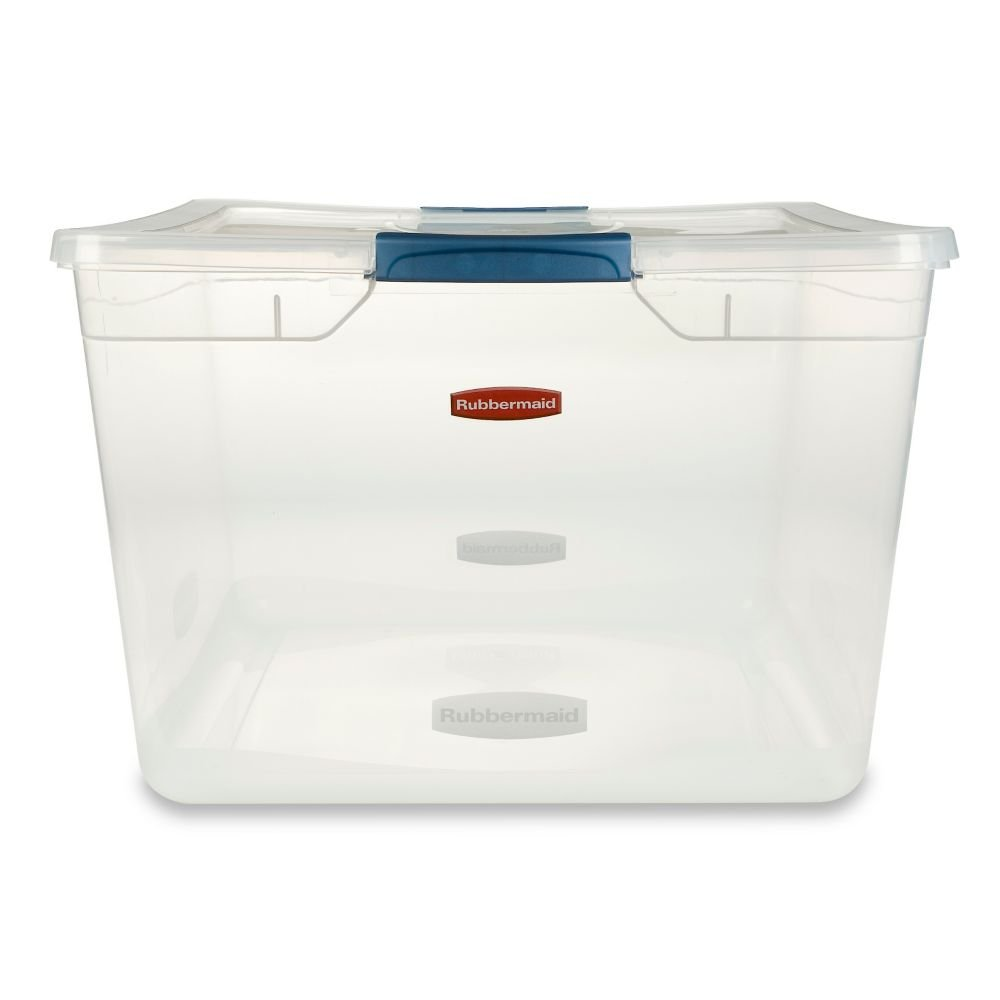 High Quality Amazon.com   Rubbermaid Clever Store Latching Storage Tote Container, Clear,  71 Quart (FG3Q3200CLMCB)   Lidded Home Storage Bins