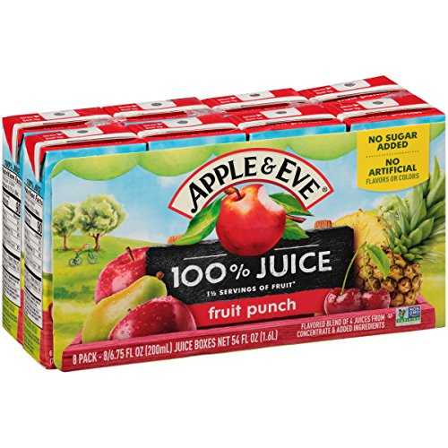 Pineapple Juice Punch - Apple & Eve Fruit Punch, 6.75 Fluid-oz., Pack of 8