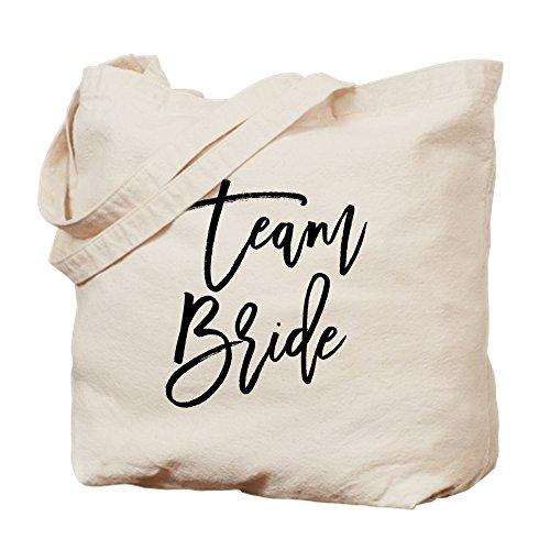 CafePress - Team Bride - Natural Canvas Tote Bag, Cloth Shopping Bag