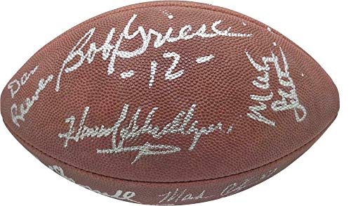 Johnson Autographed Nfl Football - Don Shula Jimmy Johnson Signed Autographed NFL Football - PSA/DNA Certified - Autographed Footballs