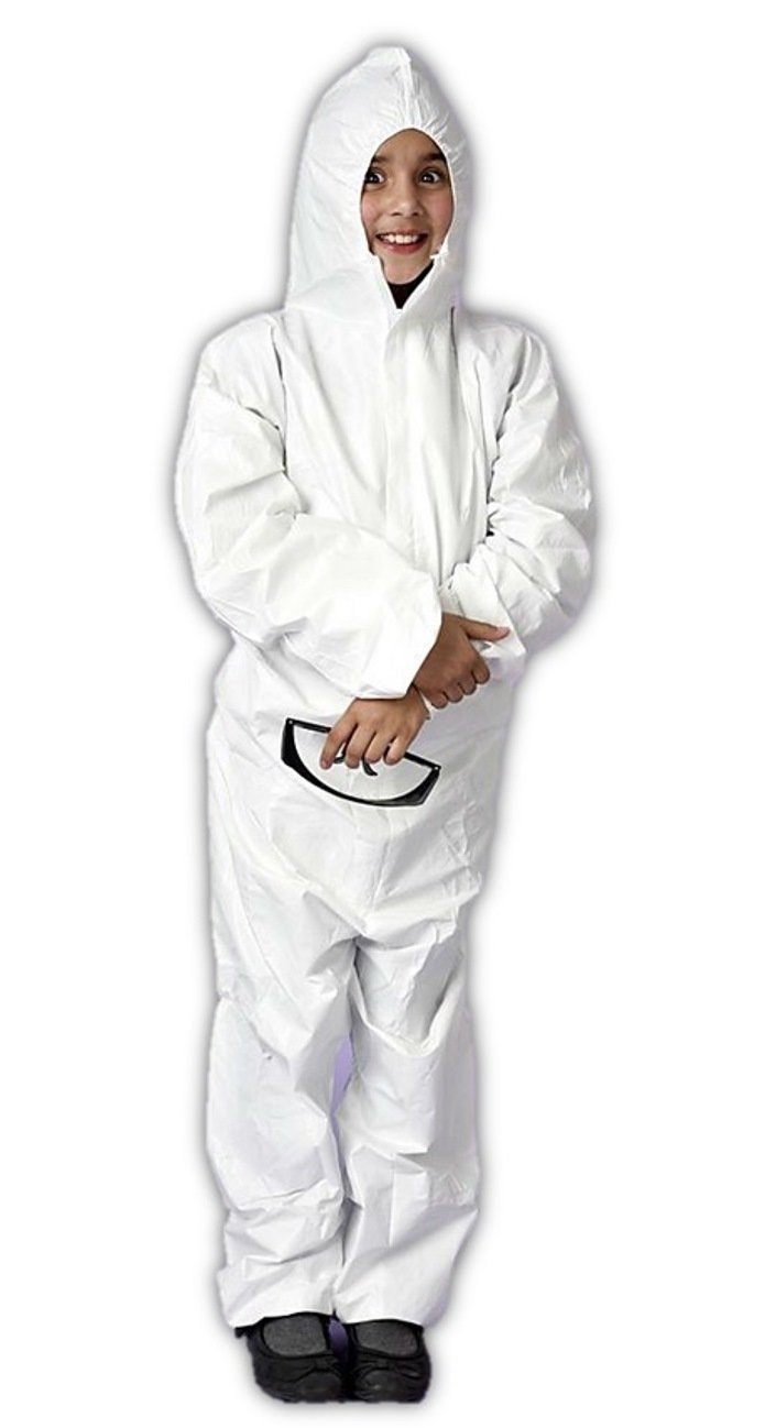 Major Gloves TUFF-GARD Disposable Microporous Protective Coveralls with Hood and ankles, XX-Small