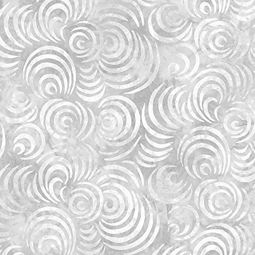 Wilmington Prints Whirlpools Essential 108 Inch Wide Quilt Backing Light Gray