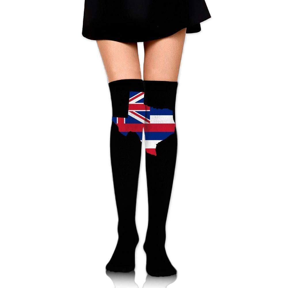 51d645af4 Amazon.com  Custom Women Over The Knee Stockings Sock Compression Thigh  Ethiopia Flag of Texas Map Football Outdoor Boy Girl Casual High Long Socks  Tube ...