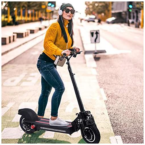 Wetour 1200W Scooter électrique 48V / 22Ah – Vitesse maximale 50 km/h, kilométrage 50 km – Noir