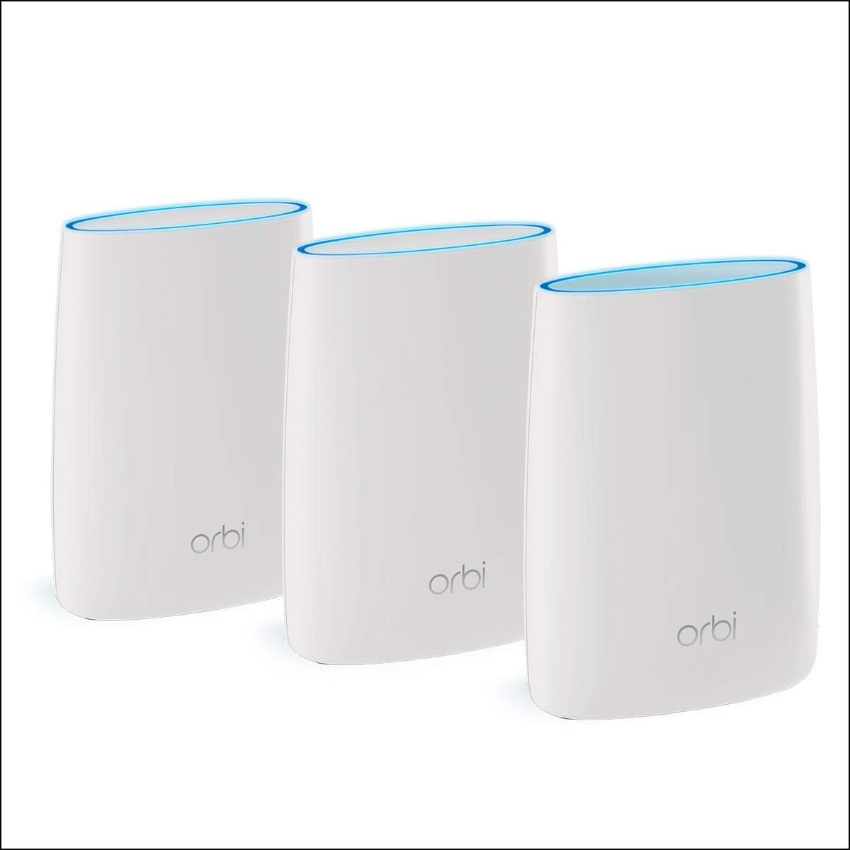 Netgear Orbi RBK53 - Sistema WiFi Mesh tribanda AC3000, cobertura de hasta 525 m², kit de 3, con 1 router y 2 satélites: Netgear: Amazon.es: Informática