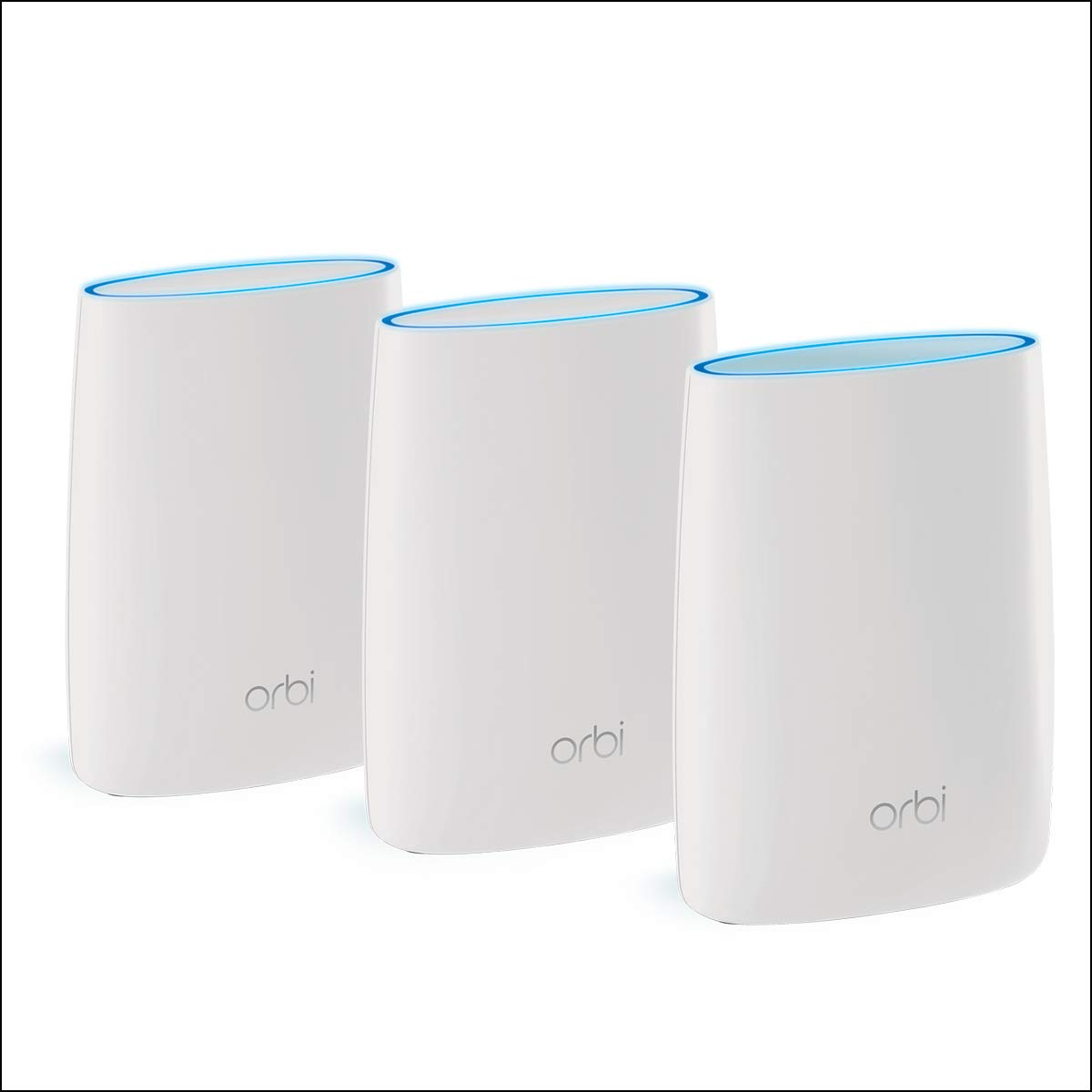 RBK13 pack comprenant 1 base//routeur et 2 Satellites NETGEAR Syst/ème WiFi Mesh Orbi remplace votre box et couvre jusqu/à 300m2