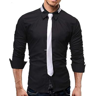 Gugavivid Camisas de Trabajo de Negocios de Empalme para Hombre ...