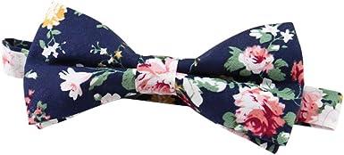 JUNGEN Pajarita de Hombre Pajarita de Flores Vintage Corbata de ...