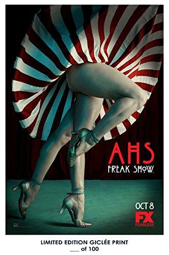 RARE POSTER thick AMERICAN HORROR STORY: FREAK SHOW tv show 2016 twins REPRINT #'d/100!! - Show Ahs