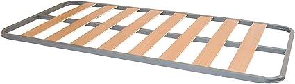 Somier Lama Ancha Reforzada | Láminas de Madera de 10 cm | Tacos Anti-Ruido | Patas cuadradas | Perfil 30x30 Esquinas Curvas | Fabricación Nacional | ...
