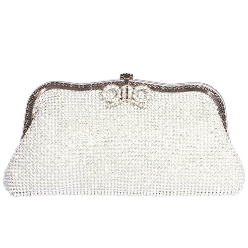 Bags Clutch Luxury women Bowknot Evening Bling Crystal Silver Digabi UnHxSS